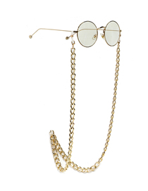 Fashion Golden Color Preserving Thick Aluminum Chain Anti-skid Glasses Chain