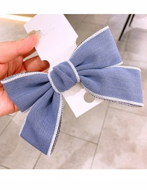 Fashion Blue Hairpin Cowboy Wide-brimmed Bow Chain Headband Hairpin