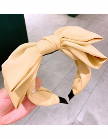 Fashion Yellow Double-layer Bow-knot Wide-brimmed Fabric Headband