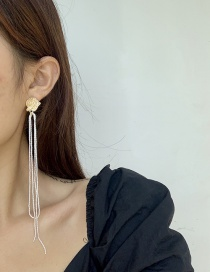 Fashion Golden Color One Snowflake Chain Tassel Alloy Earrings