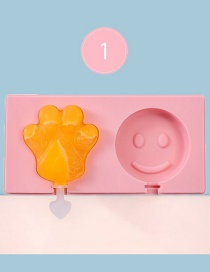 Fashion Smiley + Bear Paw Homemade Geometric Popsicle Mold With Lid