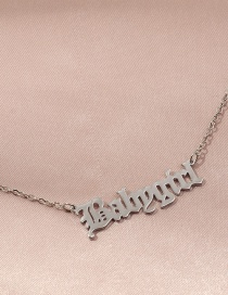 Fashion Silver Letter Alloy Hollow Necklace