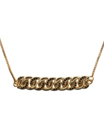 Fashion Golden Multi-ring Micro-inlaid Zircon Hanging Chain Necklace
