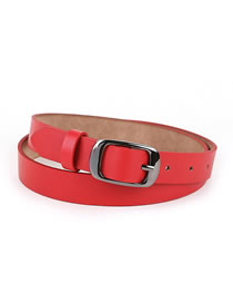 Fashion Red Square Buckle Belt Buckle Square Alloy Belt