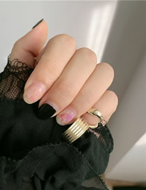 Fashion Golden Alloy Geometric Hollow Nail Cover