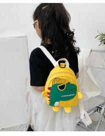 Fashion Yellow Childrens School Bag 3-6 Years Old Small Dinosaur Backpack