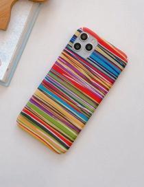Fashion Stripe All-inclusive Photo Frame Resin Printing Anti-drop Phone Case