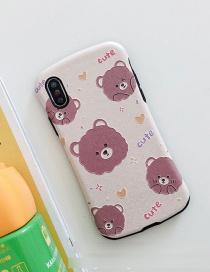 Fashion Bear Small Man Waist Silk Embossed Printed Resin Phone Case