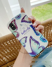 Fashion Butterfly Small Man Waist Silk Embossed Printed Resin Phone Case