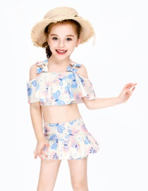 Fashion Butterfly Shoulder Childrens Butterfly Split Sling Swimsuit