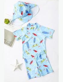 Fashion Scooter Childrens Cartoon Scooter One-piece Swimsuit Suit