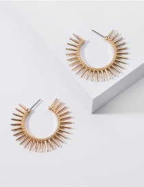 Fashion Gold Color Alloy Sunflower Round Earrings