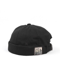 Fashion Black Letter Patch Stitching Landlord Hat