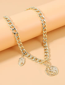 Fashion Golden Geometric Hollow Alloy Thick Chain Necklace