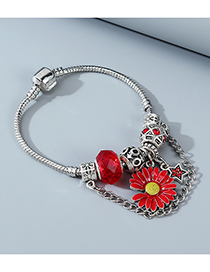 Fashion Red Xiao Zou Ju Dripping Oil Five-pointed Star Chain Alloy Bracelet