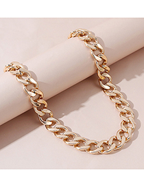 Fashion Golden Thick Chain Alloy Necklace