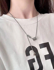 Fashion Silver Color Stainless Steel Geometric Necklace