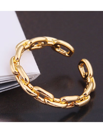 Fashion Golden Chain Alloy Open Ring