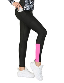 Fashion Pants Printed Contrast Color Yoga Wear With Pockets And Leggings Track Suit
