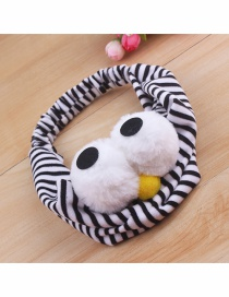 Fashion Black And White Stripes Big Eyes Plush Polka Dot Striped Headband