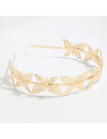 Fashion Gold Color Butterfly Alloy Hollow Headband