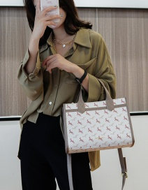 Fashion Pu Large-capacity Printed Elk Diagonal Shoulder Bag