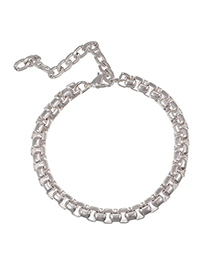 Fashion Silver Alloy Small Thick Chain Bracelet