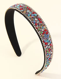 Fashion Color Geometric Chain Headband With Diamonds