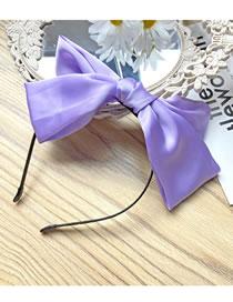 Fashion Purple Headband Bowknot Satin Fabric Alloy Hair Band
