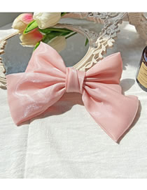 Fashion Pink Bowknot Fabric Alloy Hairpin