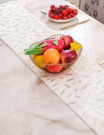Fashion 275*28cm Feather Table Runner Christmas Imitation Rabbit Fur Bronzing Feather Tablecloth