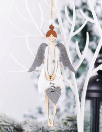Fashion Love Angel Plush Wooden Angel Girl Christmas Children Gift Pendant