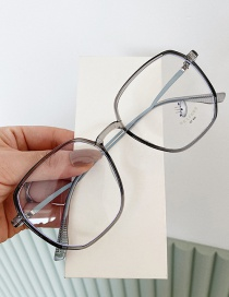 Fashion Translucent Anti-blue Light Curved Legs And Irregular Lacquer Flat Glasses