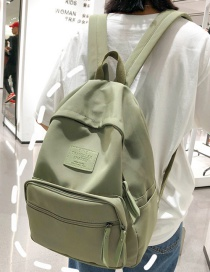 Fashion Armygreen Nylon Cloth Letter Labeled Backpack