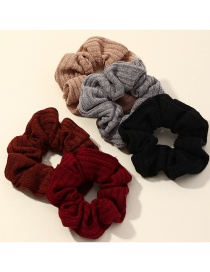Fashion Color Mixing Hand-knitted Color Intestine Circle Hair Rope Set