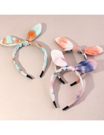 Fashion Suit Printed Contrast Color Bow Wide-brim Hair Band
