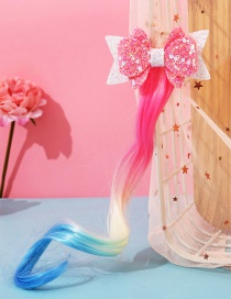 Fashion Bow Butterfly Animal Contrast Color Childrens Wig Braids