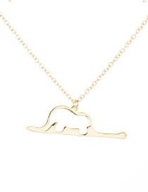 Fashion Gold Color Snake Belly Elephant Hollow Pendant Necklace
