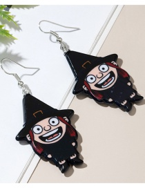 Fashion Black Witch Resin Alloy Earrings