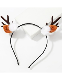Fashion White Ball Antlers Feather White Ball Resin Flannel Antler Headband