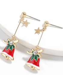 Fashion Christmas Bell Alloy Dripping Christmas Bell Earrings