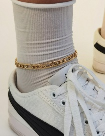 Fashion Gold Color Geometric Chain Alloy Hollow Anklet