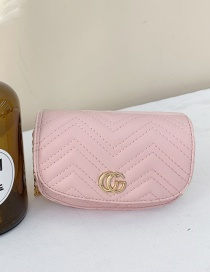 Fashion Pink Childrens One-shoulder Messenger Bag With Embroidery Thread Letters