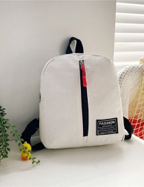 Fashion 19 Inch Three White Canvas Bunny Elephant Stitching Contrast Backpack
