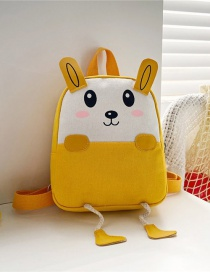 Fashion 16 Inch One Yellow Canvas Bunny Elephant Stitching Contrast Backpack
