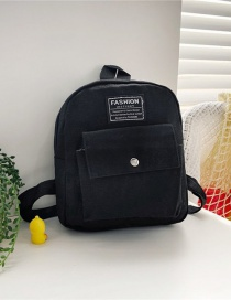 Fashion 16 Inch Two Black Canvas Bunny Elephant Stitching Contrast Backpack
