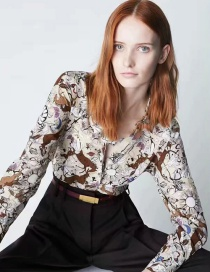 Fashion Printing Butterfly Print Single-breasted Shirt