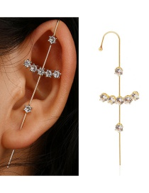 Fashion A Word Diamond-studded Geometry Surrounds The Auricle Ear Bone Clip