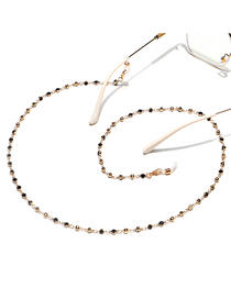 Fashion Gold Color Handmade Chain With Rhinestone Alloy Glasses Chain