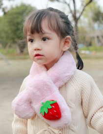Fashion Strawberry [pink] 6 Months-12 Years Old Fruit Strawberry Plush Padded Childrens Scarf